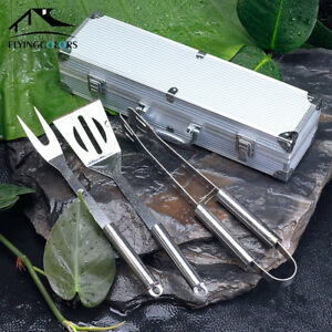 Professional Gourmet Stainless Steel BBQ Set w/Case