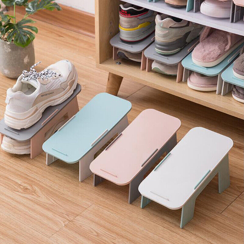 Foldable Shoe Organizer Stacker Footwear Support Slot Stand