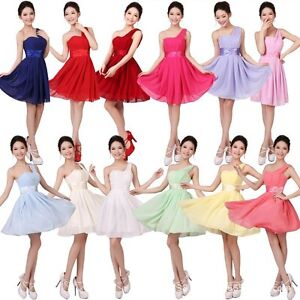 New-Womens-Sexy-Party-Evening-Wedding-Bridesmaid-Prom-Ball-Short-Dress-Formal
