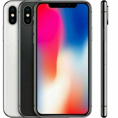 Apple iPhone X Factory Unlocked SmartPhone AT&T T-mobile Verizon 64GB 256GB
