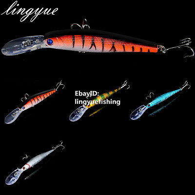 12.5cm/14g Best Minnow Fishing Lures Bait Crankbaits HOOK 4#