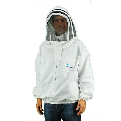 Professional-grade Bee Keeping Jacket - Sheriff Style Hoodveil- Large Size