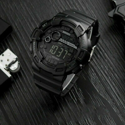 Military Men's Digital LED Sport Countdown Timer Shock Waterproof Resist Watch