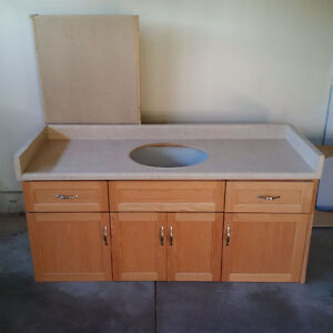 Bathroom Vanity cabinets and counter