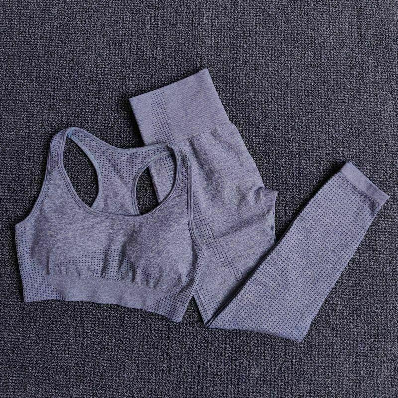 Women seamless Yoga Set Crop Top  Sports Bra  Legging Pants Gym Tracksuit 3Pcs