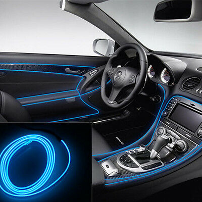 Car Blue 2M Panel Neon Lamp Strip Decorative Atmosphere OLED Cold EL Light