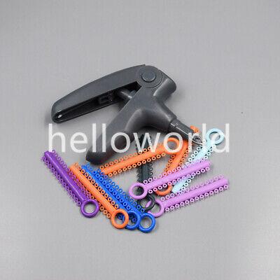 1 Pc Grey Orthodontic Dental Ligature Gun Tool1040 Pcs Colorful Ligature Ties