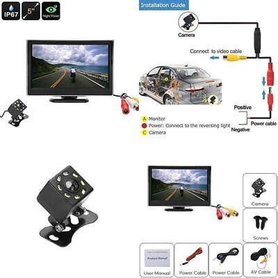 Best Car Rear View Backup Camera Monitor Kit Reverse Parking Cam Night Vision