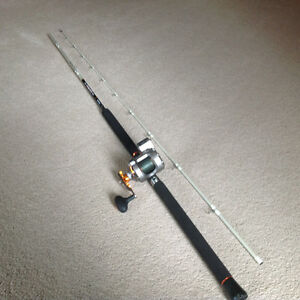 OKUMA COLD WATER LINE COUNTER  DOWNRIGGER REEL / ROD