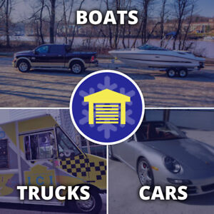 WINTER INDOOR STORAGE | CARS - BOATS - TRUCKS