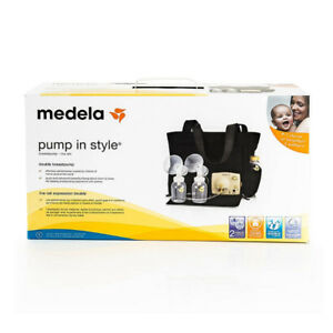 BNIB Medela Pump in Style Breastpump Tote/Slouch bag and bouncer