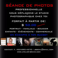 SEANCE DE PHOTOS $50