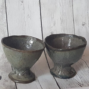 Two Stoneware Goblets