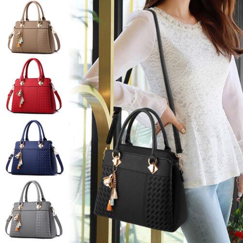 Damen Handtaschen Leder Umhängetasche Shopper Tote Schultertasche Henkeltasche