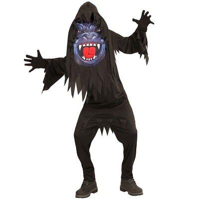 m Scary GORILLA 158 (11-13 J.) Big Face Halloween großer Kopf (Kostüm-scary Halloween)
