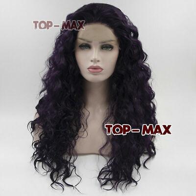 Heat Resistant Curly Lace Front Wig Kinky Dark - Schwarz Curly Perücken Halloween