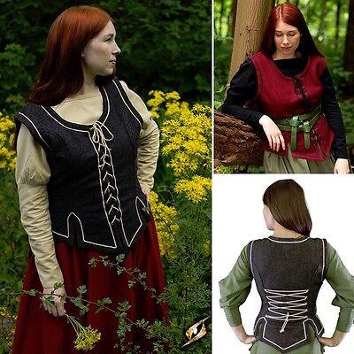 Womens Vest - 2 Colours - Perfect For LARP Or Re-Enactment Costume