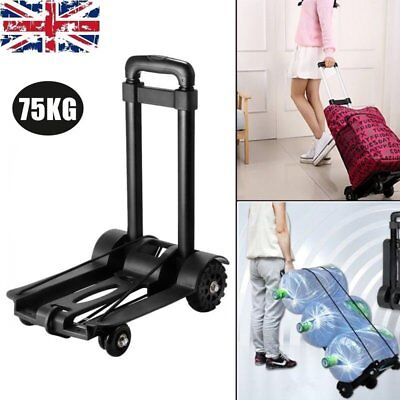 Portable Folding Sack Truck Hand Cart Luggage Collapsible Trolley Barrow 75kg