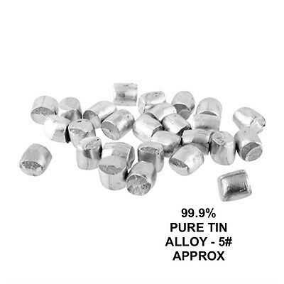 Pure Tin 99.9 Casting Metal - 5 Lb Approx Pack