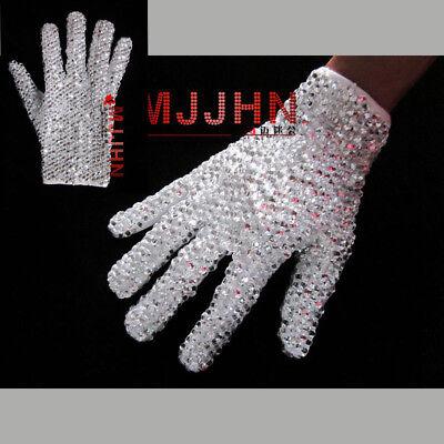 Handmade MJ Michael Jackson Crystal Handmade 100% Glove Billie Jean Both Side - Mj Gloves