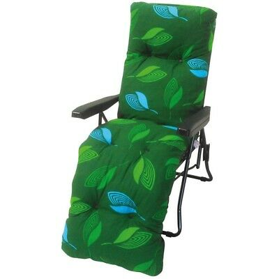 Culcita Assorted Multi Position Padded Reclining Relaxer Garden Sun Lounge Chair