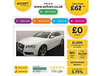 Audi A5 2.0TDI ( 170ps ) Sportback 2010MY S Line FROM £62 PER WEEK!