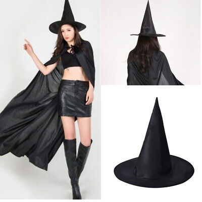 Kids Adult Womens Black Witch Hat Costume Accessory DIY For Halloween Party Gift](Halloween Costumes Diy Witch)