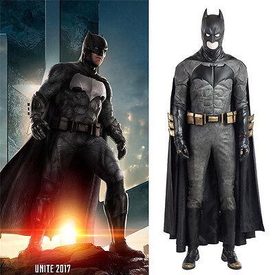 Justice League Batman Bruce Wayne Cosplay Costume Suit Halloween Fancy Dress