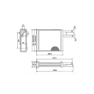 Heating radiator Citroen Jumper Gasoline+Diesel