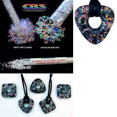 Fine Dichroic GLASS FRIT FLAKES System 96 COE CBS Rainbow Clear Sandberg