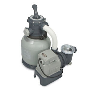 Intex Krystal Clear Sand Filter Pump for Above Ground Pools, 12-