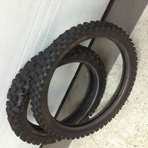 Set of used MX tires