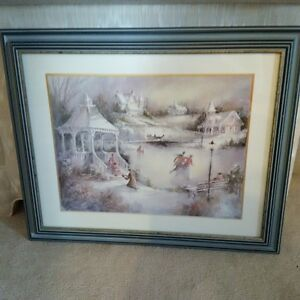 Two gorgeous winter scene prints framed and under glass! Kitchener / Waterloo Kitchener Area image 2