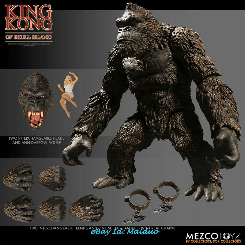 "Mezco Toyz 2018 King Kong of Skull Island King Kong 7/"" Action Figure In Stock"