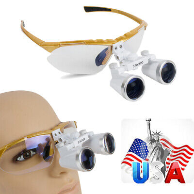 Dental Clinic Dentist Surgical Magnifier Binocular Loupes 3.5x 320mm Glass Loupe