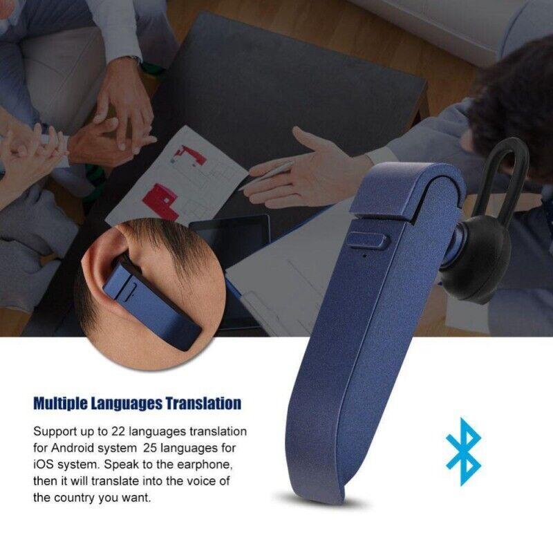 Headset Earphone Instant Translator 25 Languages Smart Wireless Bluetooth 4.1