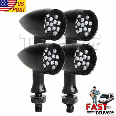4x Bullet LED Turn Signals Lights For Honda Shadow Rebel 250 500 750 1100 VTX VT