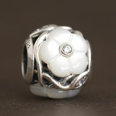 NEW AUTHENTIC Pandora Charms Florals Charm 791894MOP White Flower Mother