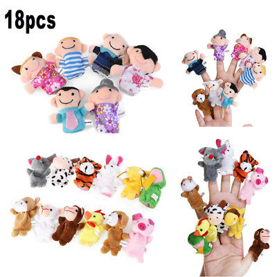 18 Stück Fingerpuppen Handpuppen Baby Spielzeug Farm Tiere Geschichte lehrreich