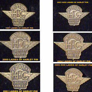 "HARLEY DAVIDSON VEST PINS ""HOG"" LADIES OF HARLEY"