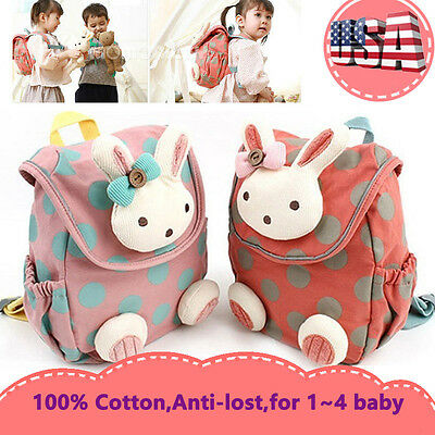 Toddler Backpack Anti-lost Kids Baby Girls Cute Kindergarten School Shoulder Bag