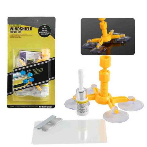 Windscreen Windshield Repair Tool Set DIY Car Kit Wind Glass Chip Crack Fix #Yo