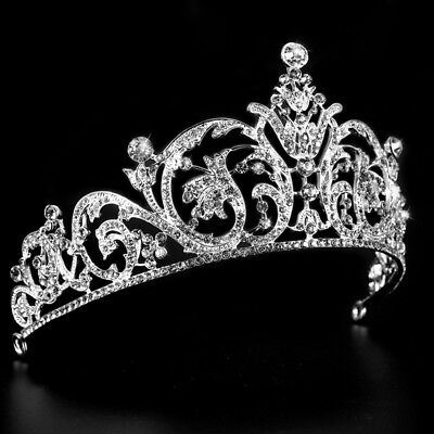 Crystal Bridal Wedding Crown Princess York Tiara Queen Diadem for Birthday Prom ](Crowns For Queens)