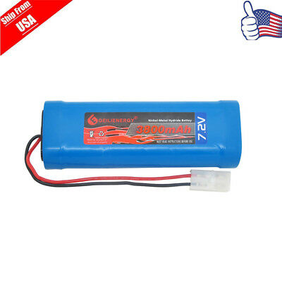 1x 3800mAh 7.2V NiMH Rechargeable Battery RC Battery Pack With Tamiya Plug USA