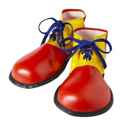 Luxus CLOWN SCHUHE Rot-Gelb feste Sohle für Erwachsene Clown Kostüm #9146 (Clown Schuhe Für Erwachsene Kostüme)