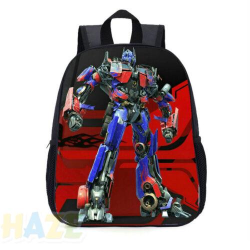 "Transformers 16/"" School Large Backpack Boy Backpack Optimus Prime Bumblebe"