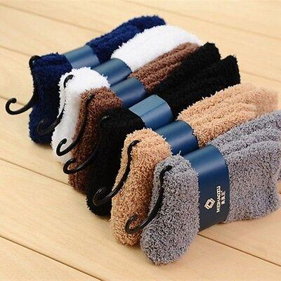 Gemütliche Plüsch (Herrenmode Unifarben Extrem Gemütlich Plüsch Socken Fuzzy Socken Bettsocken)