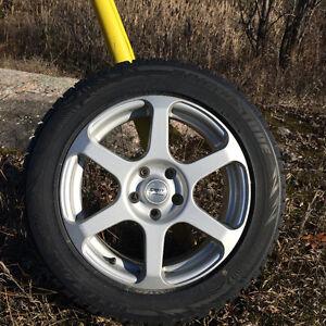 Winter Tires on Aluminum Rims 17''