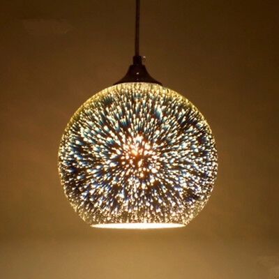 Ceiling Hanging Decorations (Modern Glass Ball Ceiling Pendant Lamp Light Hanging Chandelier Fixtures)