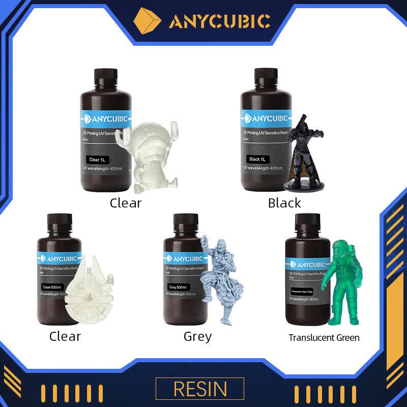 ANYCUBIC Resin 500ML / 1L 405nm UV Sensitive Rigid Resin for LCD 3D Printers US